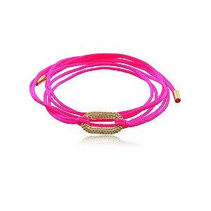 Pulseira Alana Cravejado Pink