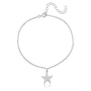 Tornozeleira Estrela Branco