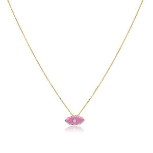 Colar Orly Pedra Pink Dourado