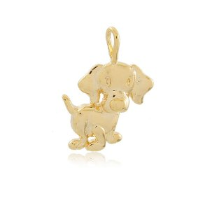 Pingente Cachorro Dourado