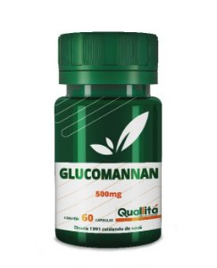 Glucomannan 500mg + Gymnema Silvestre 100mg + Chitosan 250mg + Vit C 500mg - 60 Cápsulas