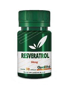 Resveratrol 20mg (30 Cápsulas)