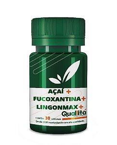 Açaí 400mg + Fucoxantina 350mg + Lingonmax 75mg - Ação detox e hidratação de dentro para fora (30 Cápsulas)