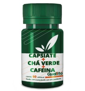 Capsiate 3mg + Chá Verde 350mg + Cafeina 100mg (60 Cápsulas)