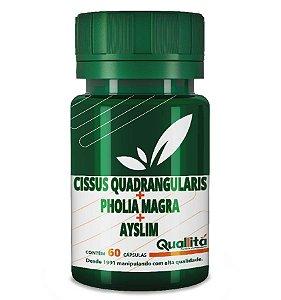 Cissus Quadrangularis 150 mg + Pholia Magra 300 mg + Ayslim 500 mg - (60 Cápsulas)
