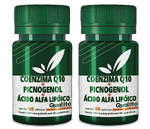 Coenzima Q10 50 mg + Picnogenol 50 mg + Ácido Alfa Lipóico 40 mg - Beleza de dentro para fora (120 Cápsulas) BLACK FRIDAY