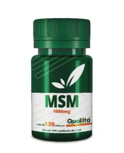 Enxofre Orgânico (MSM) 1000mg (120 Cápsulas)