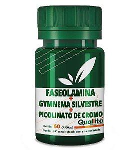 Faseolamina 500mg + Gymnema Silvestre 100mg + Picolinato de Cromo 150mg (60 cápsulas)
