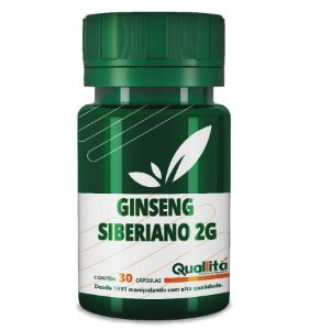 Ginseng Siberiano 2g - Reduz a sensação de fadiga física no pós-treino (30 Cápsulas)