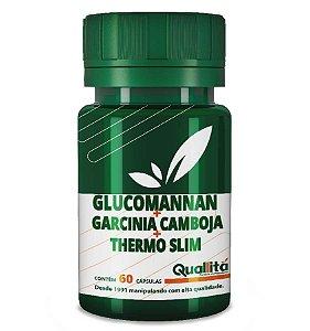 Glucomannan 750mg + Garcinia Camboja 1200mg + Thermo Slim 50mg - (60 Cápsulas)