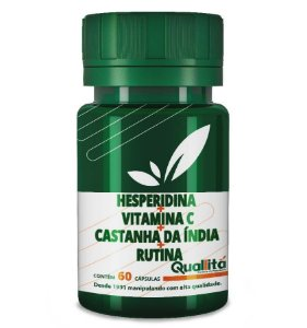 Hesperidina 100mg + Vitamina C 200mg + Castanha da Índia 200mg + Rutina 100mg - (60 Cápsulas)