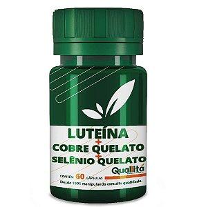 Luteina Po 1mg + Cobre Quelato 1mg + Selenio Quelato 50mg (60 Cápsulas)