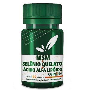 MSM 250mg + Selênio Quelato 50mg + Ácido Alfa Lipóico 40mg (60 Cápsulas)
