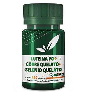 Luteina Po 1mg + Cobre Quelato 1mg + Selenio Quelato 50mcg (120 Cápsulas)