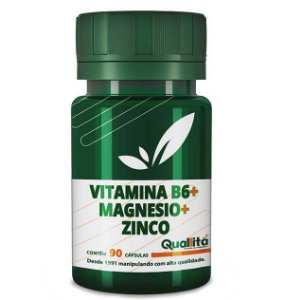 Vitamina B6 3,5mg + Magnesio 150mg + Zinco 10mg (90 Cápsulas)
