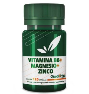 Vitamina B6 3,5mg + Magnesio 150mg + Zinco 10mg (120 Cápsulas)