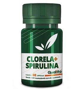 Clorela 500mg + Spirulina 500mg (60 Cápsulas)