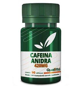 Cafeina Anidra 420mg (90 Cápsulas)