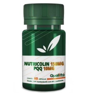 Nutricolin 150mg; PQQ 10mg (60 Cápsulas)