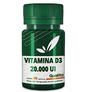 Vitamina D 20.000 UI (60 Cápsulas)