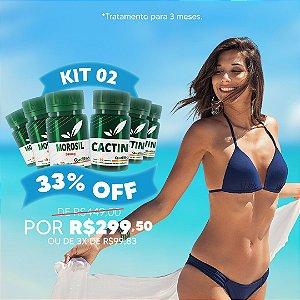 Kit Morosil 3 unidades + Cactin 3 unidades (30 cápsulas por unidade) - 33% OFF