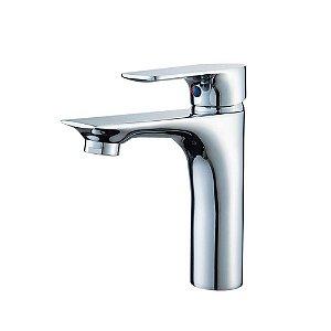 Torneira Banheiro Lavatório Bancada com Misturador Monocomando Baixa Cromado