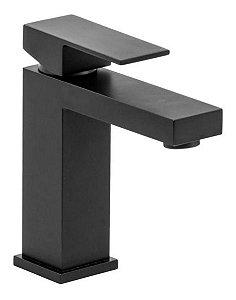 Torneira de Banheiro Monocomando Quadrada Baixa Black Matte