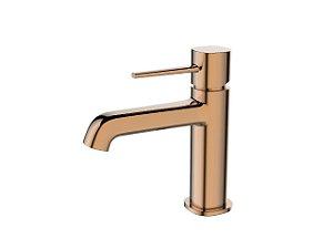 Torneira Banheiro Monocomando Mesa Baixa Metal Rose Gold