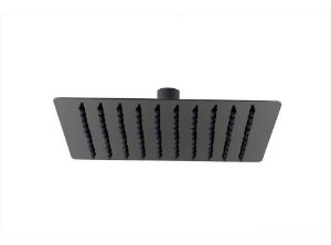 Ducha chuveiro slim quadrado 15 x 15cm preto fosco black matte