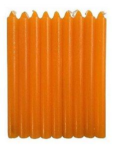 Vela Laranja 18cm Palito Pacote Com 1 Kg