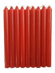 Vela Vermelha 18cm Palito Pacote Com 1 Kg
