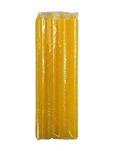 Vela Amarela 18cm 29g maço com 8 unidades