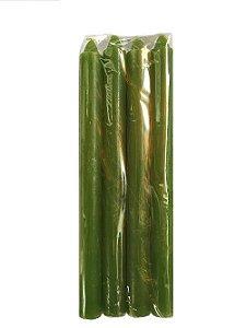 Vela Verde 18cm 29g maço com 8 unidades
