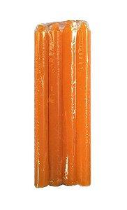 Vela Laranja 18cm 29g maço com 8 unidades