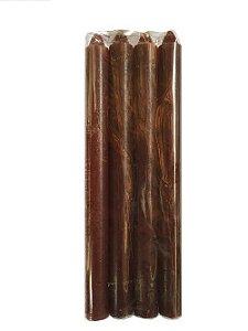 Vela Marrom 18cm 29g maço com 8 unidades