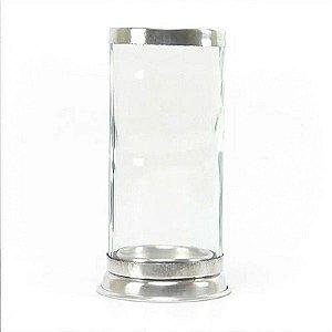 Porta Vela Vidro Transparente para vela de  7 dias