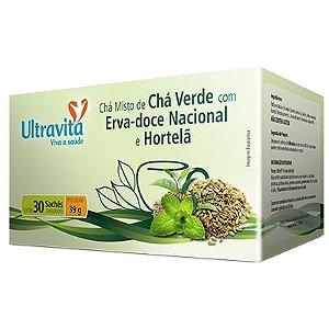 Chá Misto De Chá Verde Com Erva-Doce Nacional E Hortelã - 30 sachê
