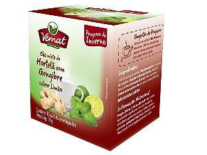 Chá misto de hortelã com gengibre sabor limão 10 sachês