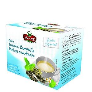 Chá de funcho camomila melissa e endro 15 sachês