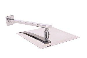 Ducha Square Quadrada Slim - 20x20 Com Suporte Quadrado
