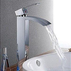 Torneira Banheiro Lavabo Monocomando Bica Alta Madrid