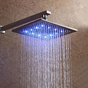Ducha Led Quadrada Square 8mm - 20cm x 20cm