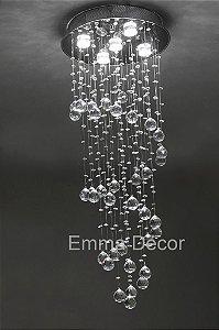 Lustre de Cristal Egipcio Autêntico Asfour 100cm - Abu Dhabi