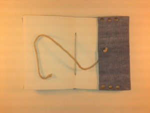 Diário de Viagem lona estonada azul jeans