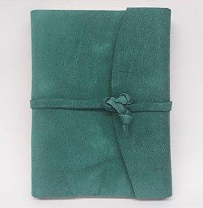 Diário em Camurça Verde
