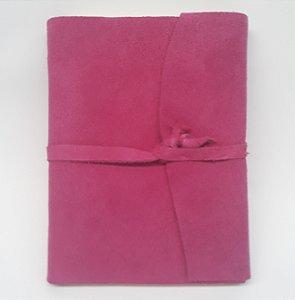 Diário em Camurça Rosa