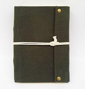Diário em Lona Verde Musgo