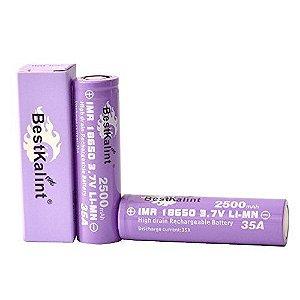 Bateria IMR 18650 Li-Mn 3.7V 2500mAh High Drain 35A Flat Top - BestKalint