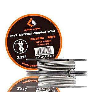 Fio p/ Resistência MTL SS316L Clapton Wire ZN12 - Geekvape