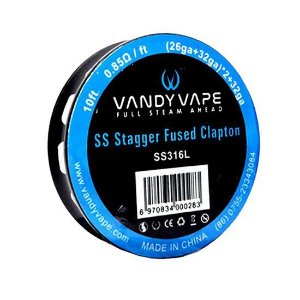 Fio SS Stagger Fused Clapton - Vandy Vape